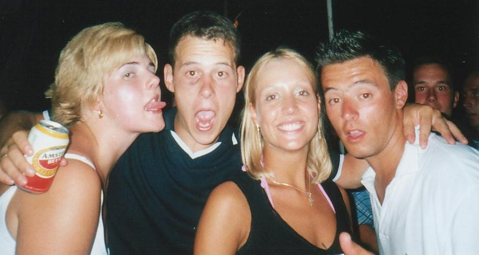 nick and his girlfriend with gill and robbo